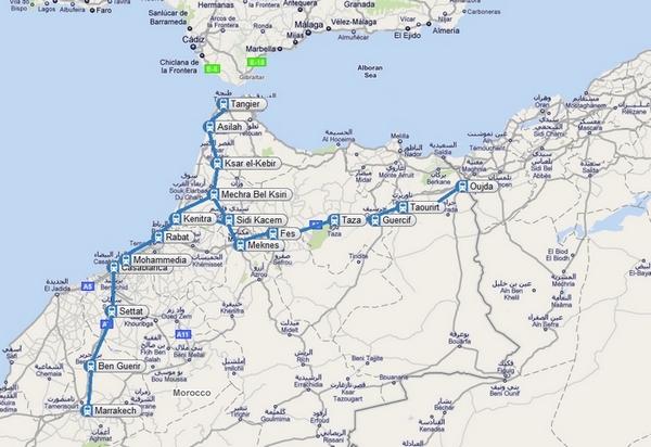 Morocco Rail Timetables